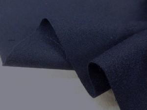 ウール 生地 ウールジョーゼット 濃紺 撥水 145mcm幅 [WO1165]