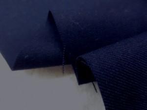 ウール 生地 テトロン ウール サキソニー 濃紺 150mcm幅 [WO1169]