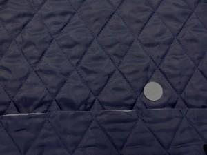 キルト 生地 ポリエステル タフタ キルティング 濃紺 リバーシブル 120cm幅 [QT108]