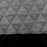 キルト 生地 ポリエステル タフタ キルティング グレイ/黒 リバーシブル 120cm幅 [QT111]