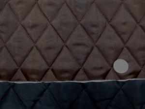 キルト 生地 ポリエステル タフタ キルティング ブラウン/黒 リバーシブル 118cm幅 [QT112]