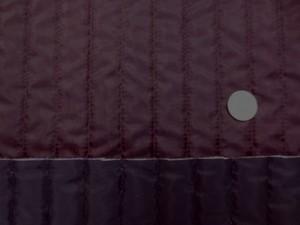 キルト 生地 ポリエステル タフタ ストライプキルティング ダークワイン/黒 リバーシブル 120cm幅 [QT116]