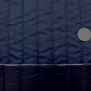 キルト 生地 ポリエステル タフタ ストライプキルティング 紺/黒 リバーシブル 119cm幅 [QT118]