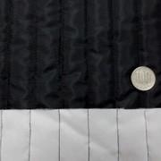 キルト 生地 ポリエステル タフタ ストライプキルティング 黒/白 リバーシブル 119cm幅 [QT119]