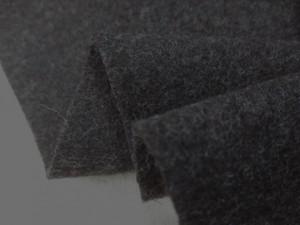 ウール 生地 ウール モッサ チャコールグレイ 150cm幅 [WO1211]