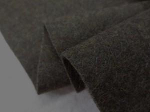 ウール 生地 ウール ソフトメルトン 杢カーキ 145cm幅 [WO1213]