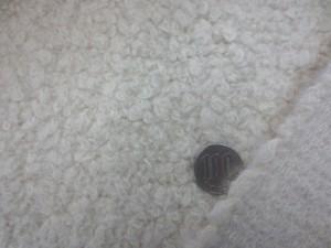 ウール 生地 ウール シープボアタイプ 生成 140cm幅 [WO1214]