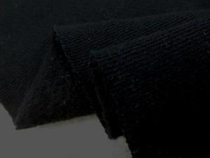 ニット 生地 裏毛 トレーナー地 黒 裏起毛 180cm幅 [JJ1458]