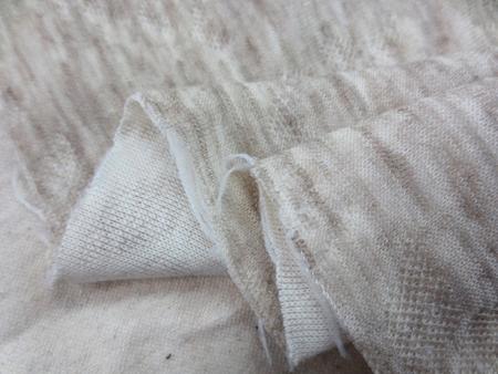 ニット 生地 キルトニット 杢ベージュ 178cm幅 [JJ1461]