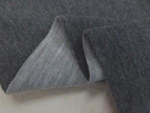 ニット 生地 リバーシブルニット 濃グレイ/杢グレイ 135cm幅 [JJ1463]