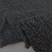 ニット 生地 スライバーニット イタリー製 モヘア混 黒 160cm幅 [JJ1365]
