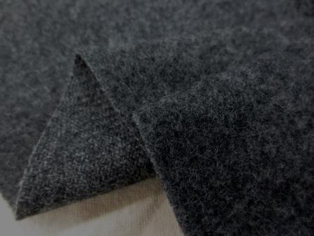 ウール 生地 ウール ライトモッサ 杢濃グレイ 135cm幅 [WO1217]