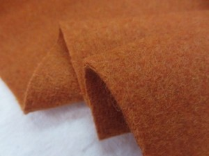 ウール 生地 ウールモッサ ダークオレンジ 148cm幅 [WO1228]