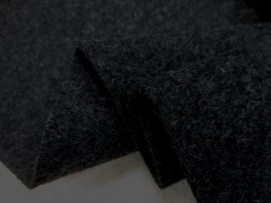 ウール 生地 ウールモッサ 杢濃グレイ 148cm幅 [WO1229]