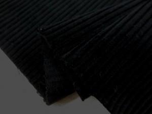 コール天 生地 中畝 コール 黒 112cm幅 [KO918]