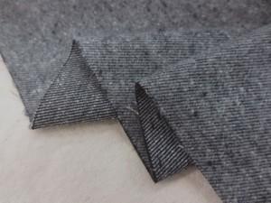 ストレッチ 生地 ジャズネップ ツイルストレッチ 起毛 グレイ 112cm幅 [MU1072]