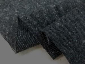ストレッチ 生地 ジャズネップ ツイルストレッチ 起毛 黒 112cm幅 [MU1074]