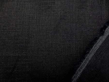 リネン 生地 ヨーロッパリネンタイプ 黒 [AS1057]
