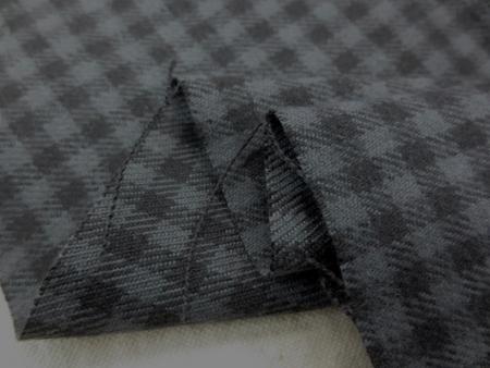 チェック 生地 ギンガムチェック 起毛 グレイ/黒 4mm 114cm幅 [FC831]
