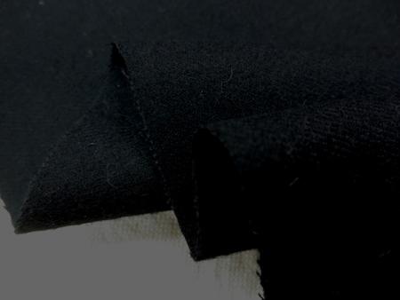 コットン 生地 ビエラ 黒 微起毛 148cm幅 [MU980]