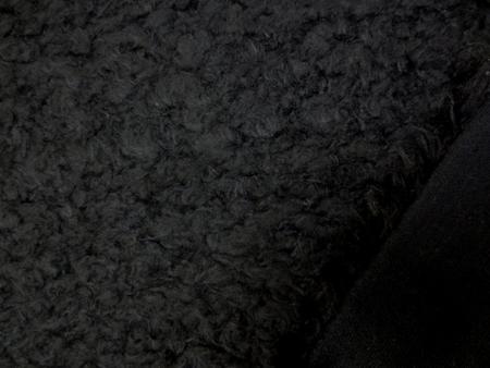 ニット 生地 ボア 黒 116cm幅 [MU982]