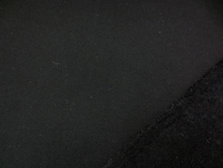 ニット 生地 裏毛 トレーナー地 黒 裏起毛 155cm幅 [JJ1366]