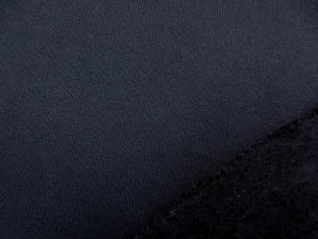 ニット 生地 裏毛 トレーナー地 濃紺 裏起毛 155cm幅 [JJ1367]