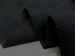 リネン 生地 ヨーロッパリネン 起毛 黒  [AS1009]