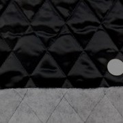 キルト 生地 ポリエステル タフタ キルティング 黒1 120cm幅 [QT124]