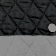 キルト 生地 ポリエステル タフタ キルティング 黒3 120cm幅 [QT126]