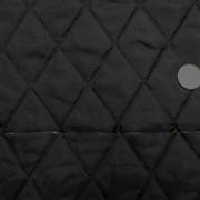 キルト 生地 ポリエステル タフタ キルティング 黒 リバーシブル1 120cm幅 [QT127]