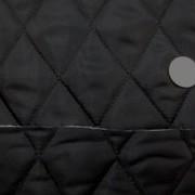 キルト 生地 ポリエステル タフタ キルティング 黒 リバーシブル2 120cm幅 [QT128]