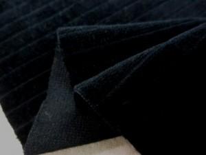 コール天 生地 WOODYコーデュロイワイド 黒 145cm幅 [KO935]