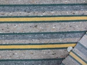 ウール 生地 カラフルボーダーストライプ 杢ミックスブラウンベジュ 102cm幅 [WO1171]