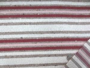 ウール 生地 カラフルボーダーストライプ 杢ブラウンベジュ 102cm幅 [WO1172]