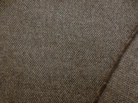 ウール 生地 ミックスツイードタイプ キャメルブラウン 140mcm幅 [WO1174]