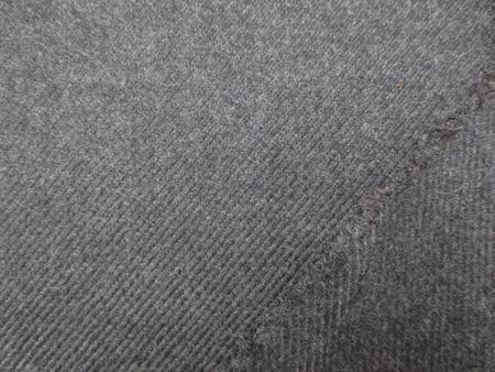 ウール 生地 ウール ダイヤゴナル 杢濃グレイ 160mcm幅 [WO1177]