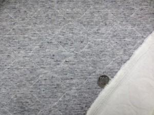 ニット 生地 キルトニット 杢グレイ 170cm幅 [JJ1379]