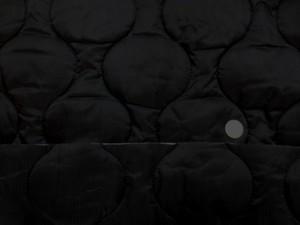 キルト 生地 ポリエステル タフタ キルティング 黒 リバーシブル ラウンドステッチ 140cm幅 [QT135]