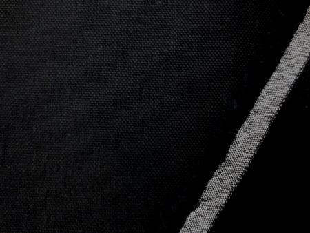 綿麻  生地 コットンリネン ヴィンテージオックス 黒 148cm幅 [AS1113]
